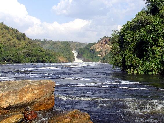 Uganda Safari Wasserfall
