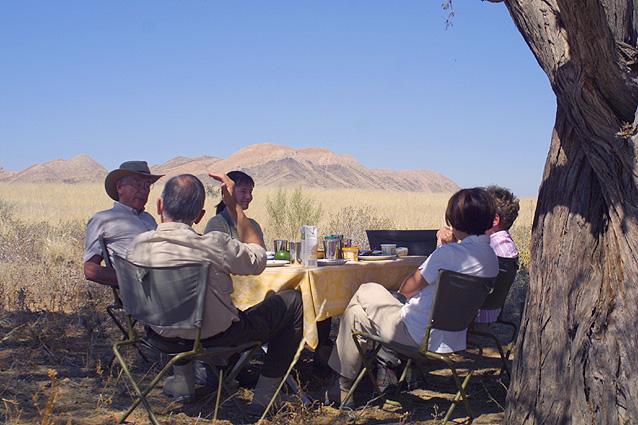 Namibia Safari Mittagspause