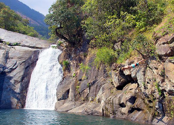 Malawi - Sambia Safari Mulanje Wasserfall