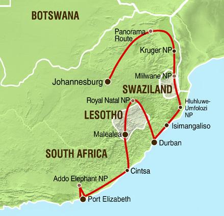 Süafrika Karte