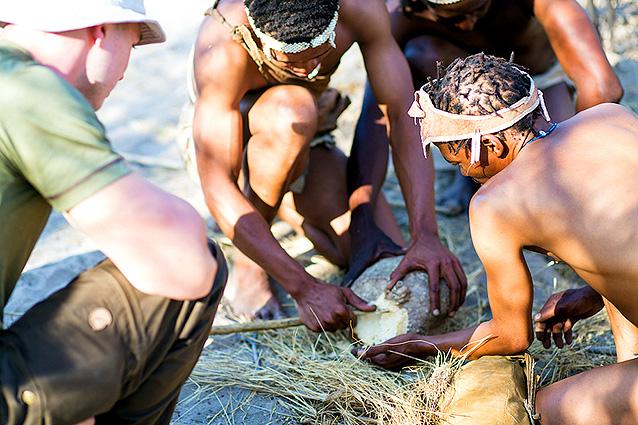 Botswana Spezial Campig-Safari, Buschmänner