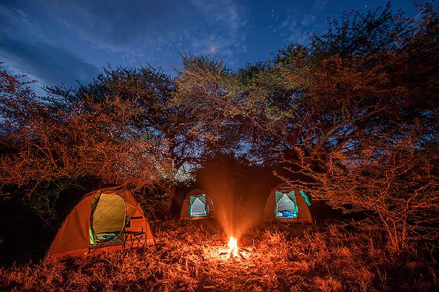 Botswana Abendstimmung